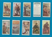 Collectable Cigarette cards set Britain's part in the War 1917
